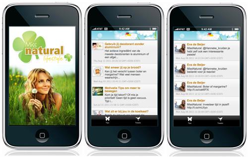 Miss Natural App nu te downloaden in de AppStore voor je iPhone