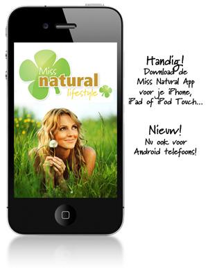 Miss Natural App voor iPhone en Android telefoon